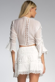 Elan Top With Bell Sleeves - Back cropped