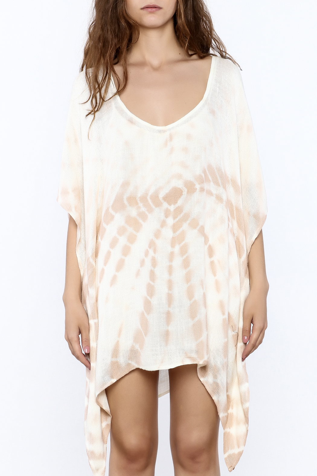 Elan Tan Tunic Dress - Side Cropped Image