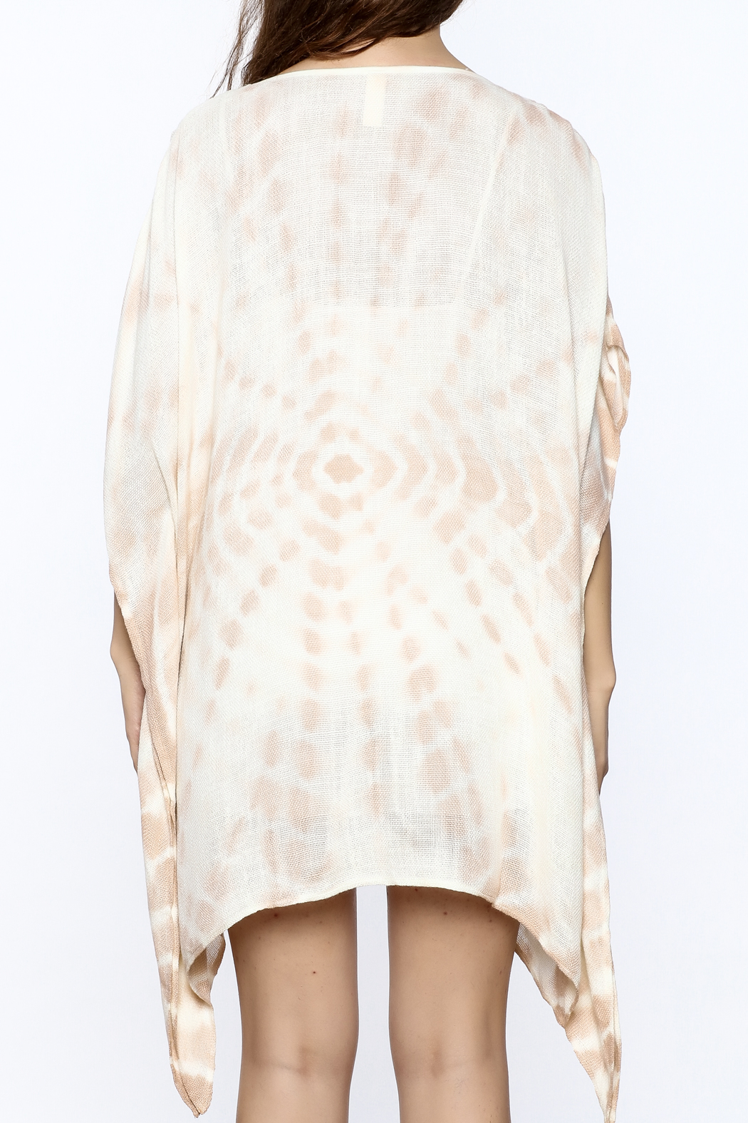 Elan Tan Tunic Dress - Back Cropped Image