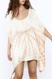 Elan Tan Tunic Dress - Front cropped