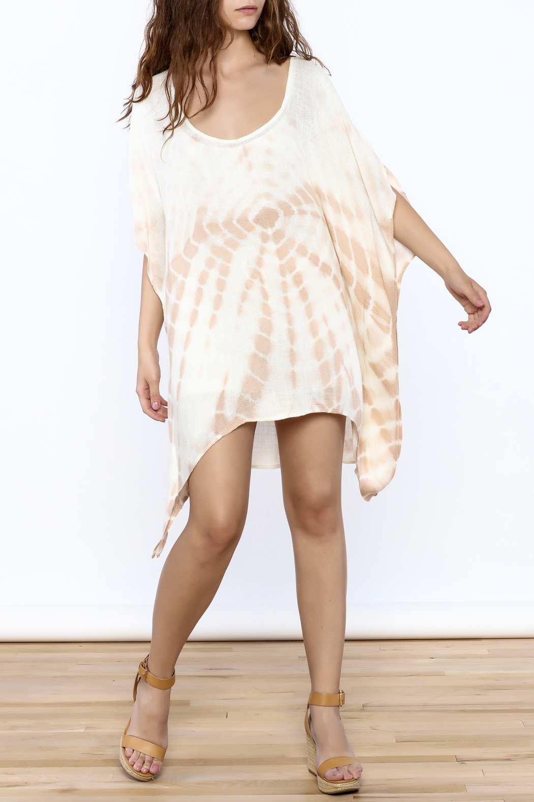 Elan Tan Tunic Dress - Front Full Image