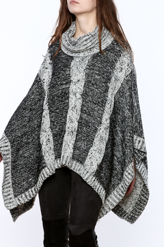 Shoptiques Product: Knitted Cowl Neck Poncho