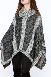 Elan Knitted Cowl Neck Poncho - Front cropped