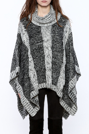 Elan Knitted Cowl Neck Poncho - Side cropped