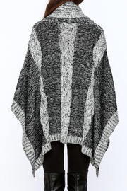 Elan Knitted Cowl Neck Poncho - Back cropped