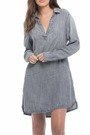 Elan V Neck Shirt Dress - Product Mini Image