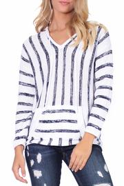 Elan V Neck Striped Sweater - Product Mini Image
