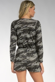 Elan Viera Pocketed Camo Romper - Back cropped