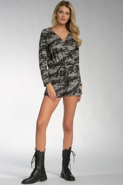 Elan Viera Pocketed Camo Romper - Side cropped