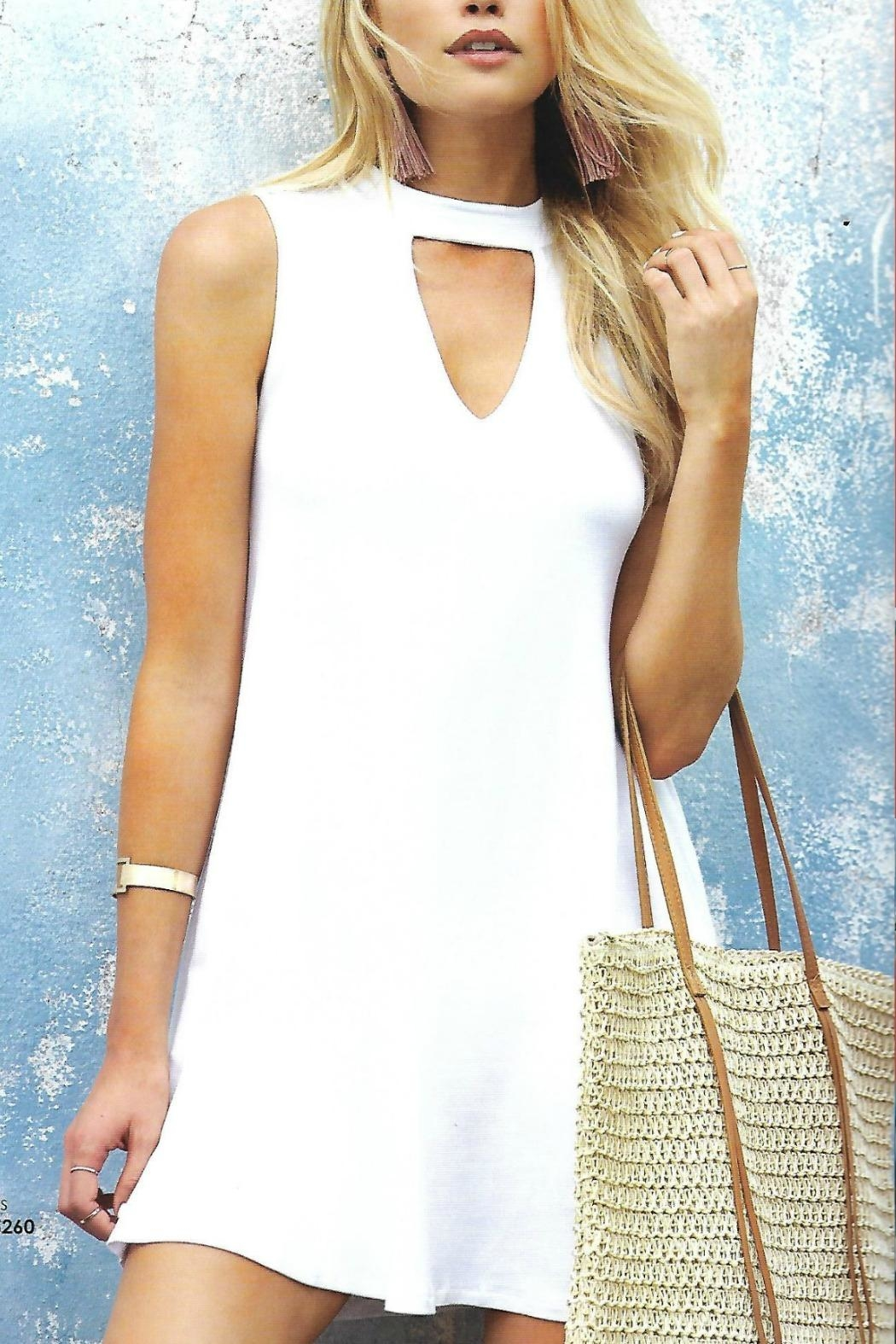 Elan White Dress - Front Cropped Image