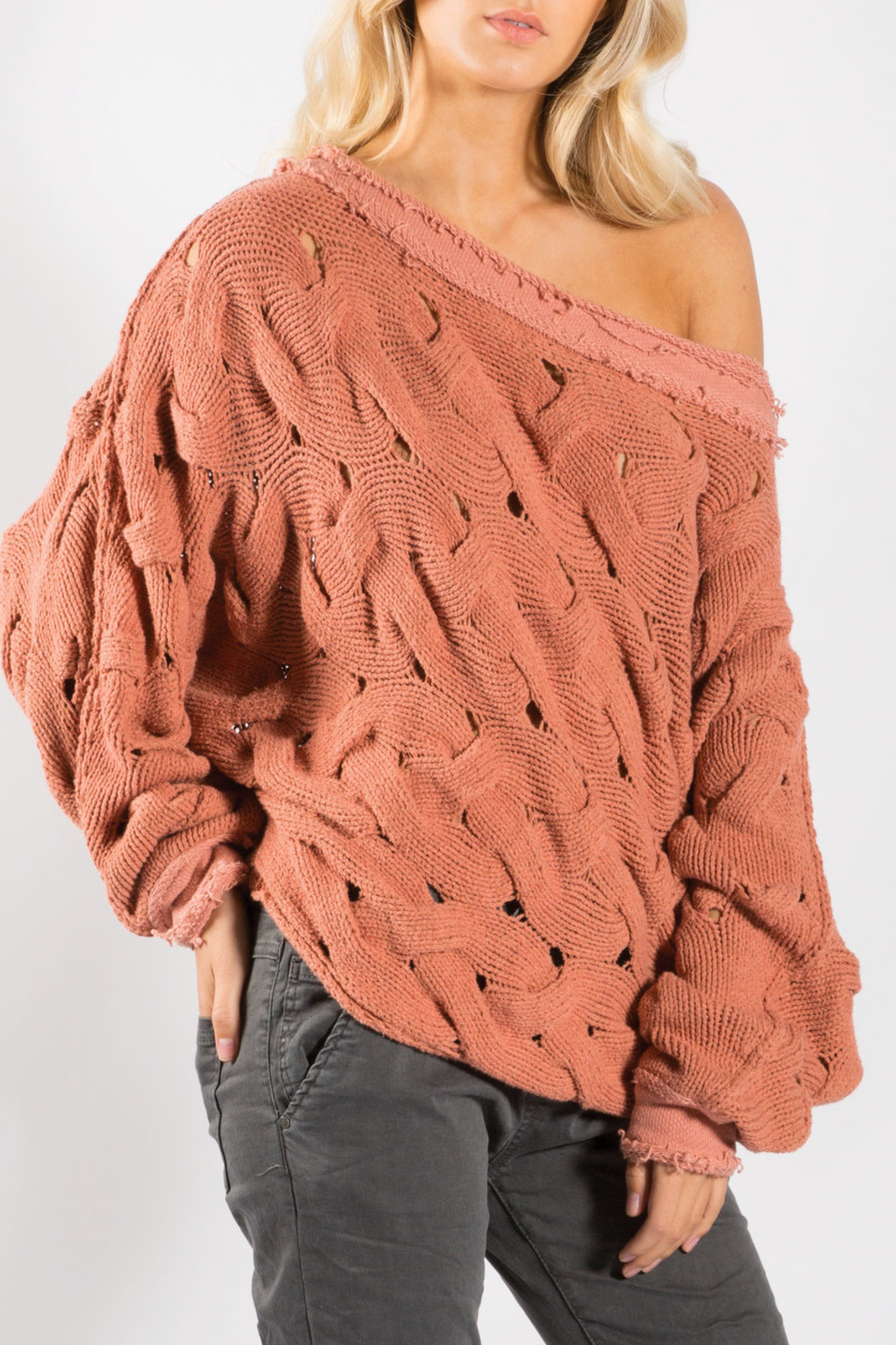 Elan Wide Neck Sweater - Front Cropped Image
