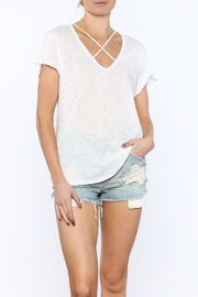 Elan White Casual Tee - Product Mini Image