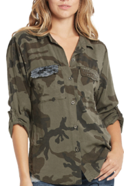 Elan Button Up Camo Shirt - Product Mini Image