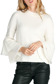 Elan Hi-Neck Ruffle Sleeve Sweater - Front cropped