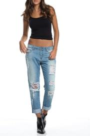 Elan Jeggings Boyfriend Pants - Product Mini Image
