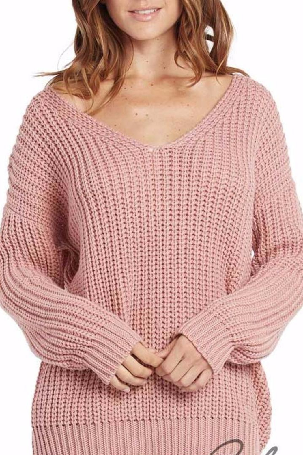 Elan International Lace Up Mauve Sweater from Miami by Neptunes ...