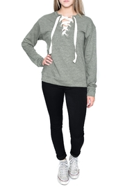 Elan International Lace Up Sweatshirt - Product Mini Image