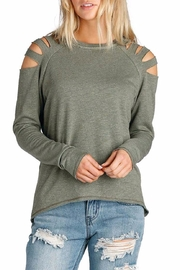 Elan International Shoulder Sweater Slits - Product Mini Image