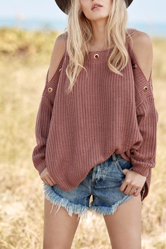 Shoptiques Product: Sweater With Eyelets