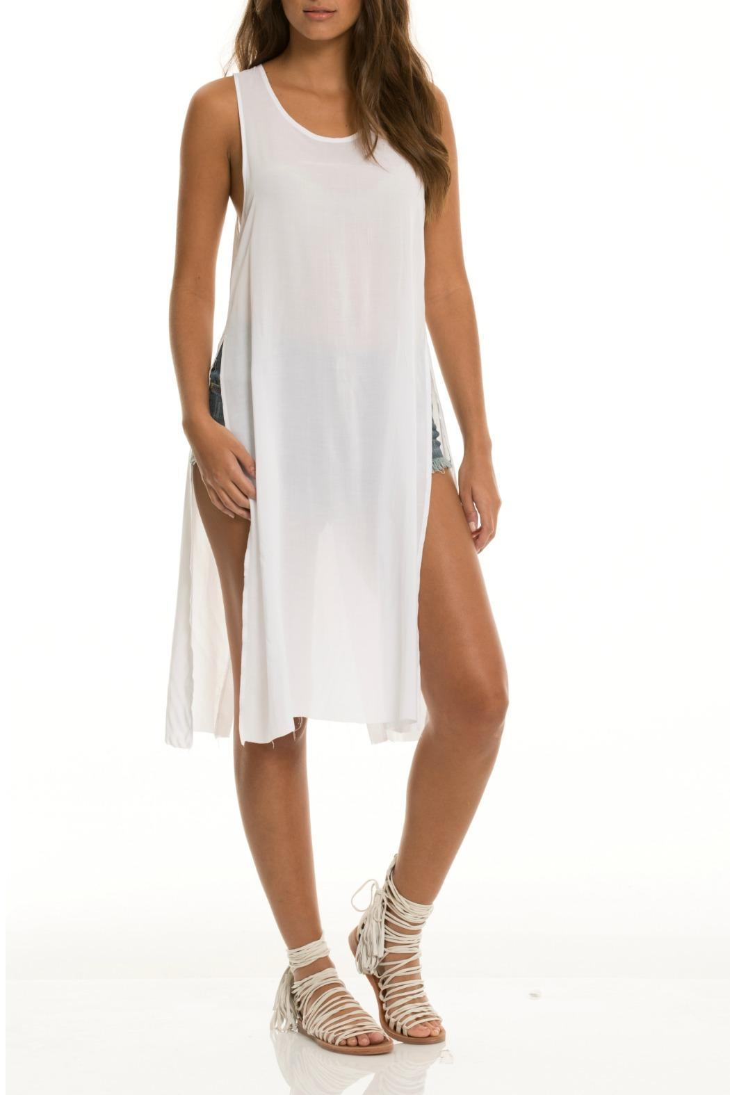 Elan White Sleeveless Tunic - Main Image