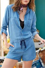 Elan Denim Romper - Product Mini Image