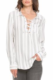 Elan Lace Up Top - Product Mini Image