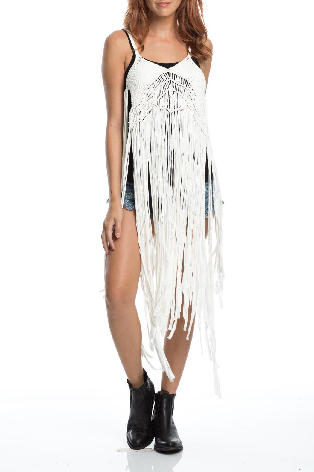 Elan Long Fringe Top From Florida By Best Beach Boutique