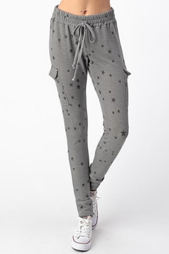 Olivia Graye Elastic Drawstring Cargo Pocket Star Joggers - Alternate List Image