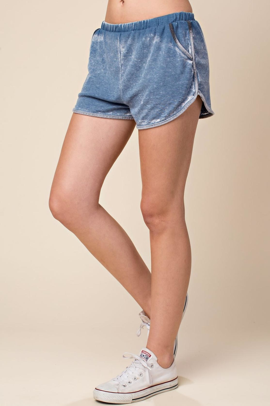 Wild Honey Elastic-Waist Dolphin Mini-Shorts - Front Full Image