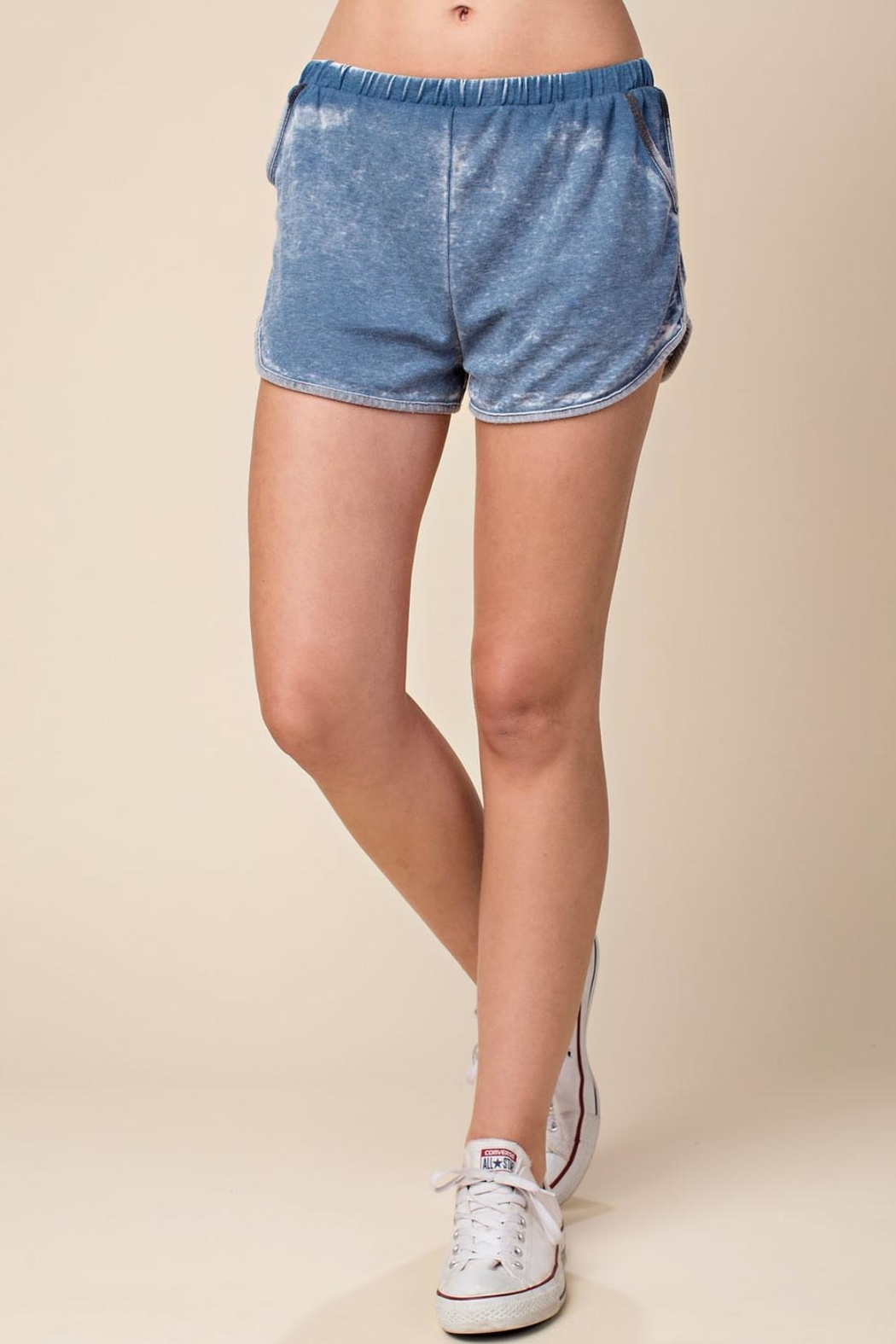 Wild Honey Elastic-Waist Dolphin Mini-Shorts - Main Image