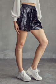 Idem Ditto  Elastic Waist Sequin Short - Side cropped