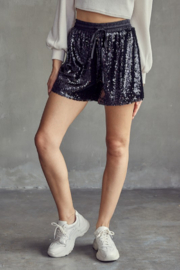 Idem Ditto  Elastic Waist Sequin Short - Front full body