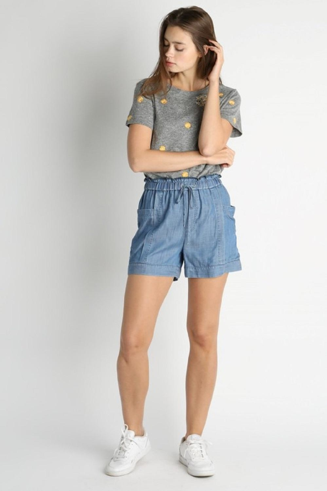 Current Air Elastic-Waist Tencil Shorts - Front Cropped Image
