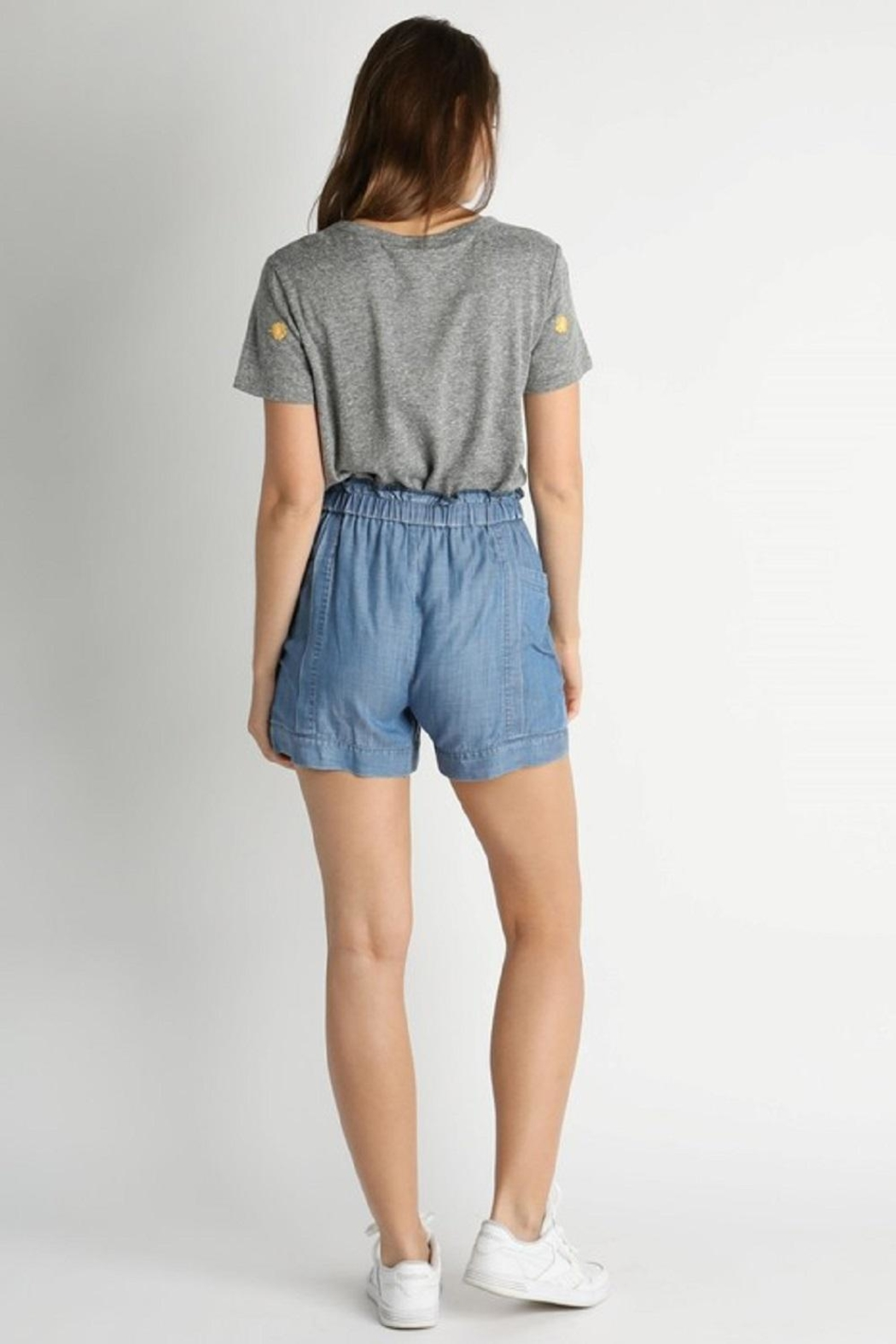 Current Air Elastic-Waist Tencil Shorts - Side Cropped Image
