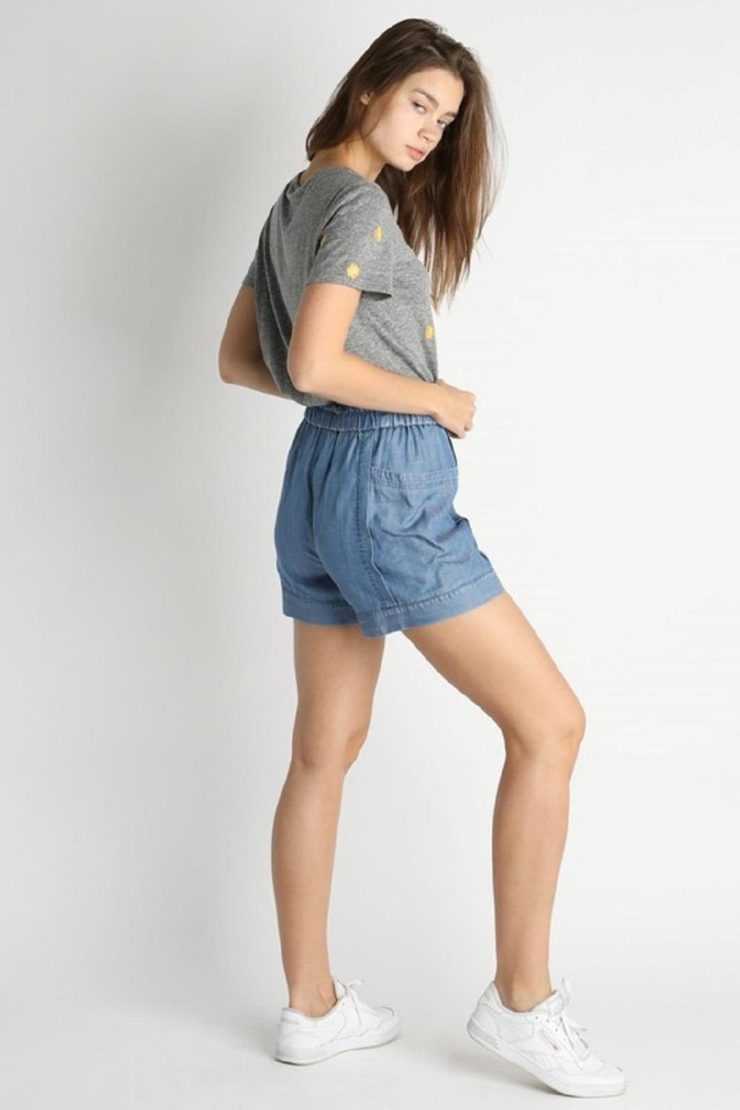 Current Air Elastic-Waist Tencil Shorts - Front Full Image