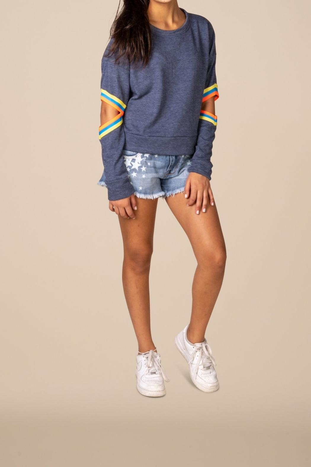 Vintage Havana Elbow Cropped Sweatshirt - Main Image