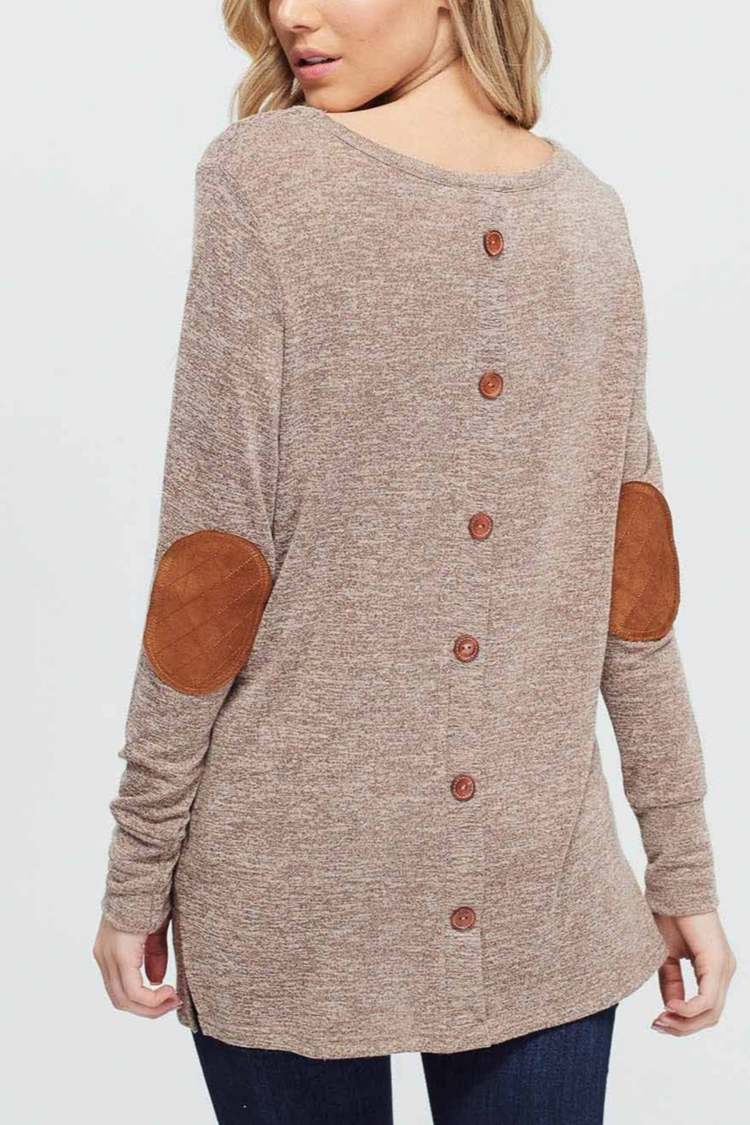 Lyn -Maree's Elbow Patch Long Sleeve - Main Image