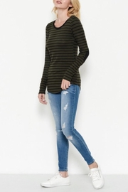 Heart & Hips Elbow Patch Top - Product Mini Image