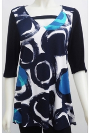 Sophie A Elbow sleeve black, navy tunic top - Product Mini Image