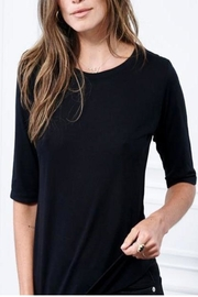Cashmere N Tee Elbow-Sleeve Crew-Neck - Front cropped