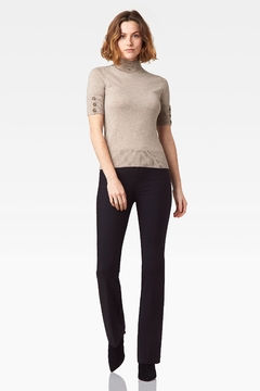 Ecru Elbow Sleeve Mock Sweater - Product List Image