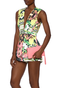 Shoptiques Product: Multi Print Deep-V Romper