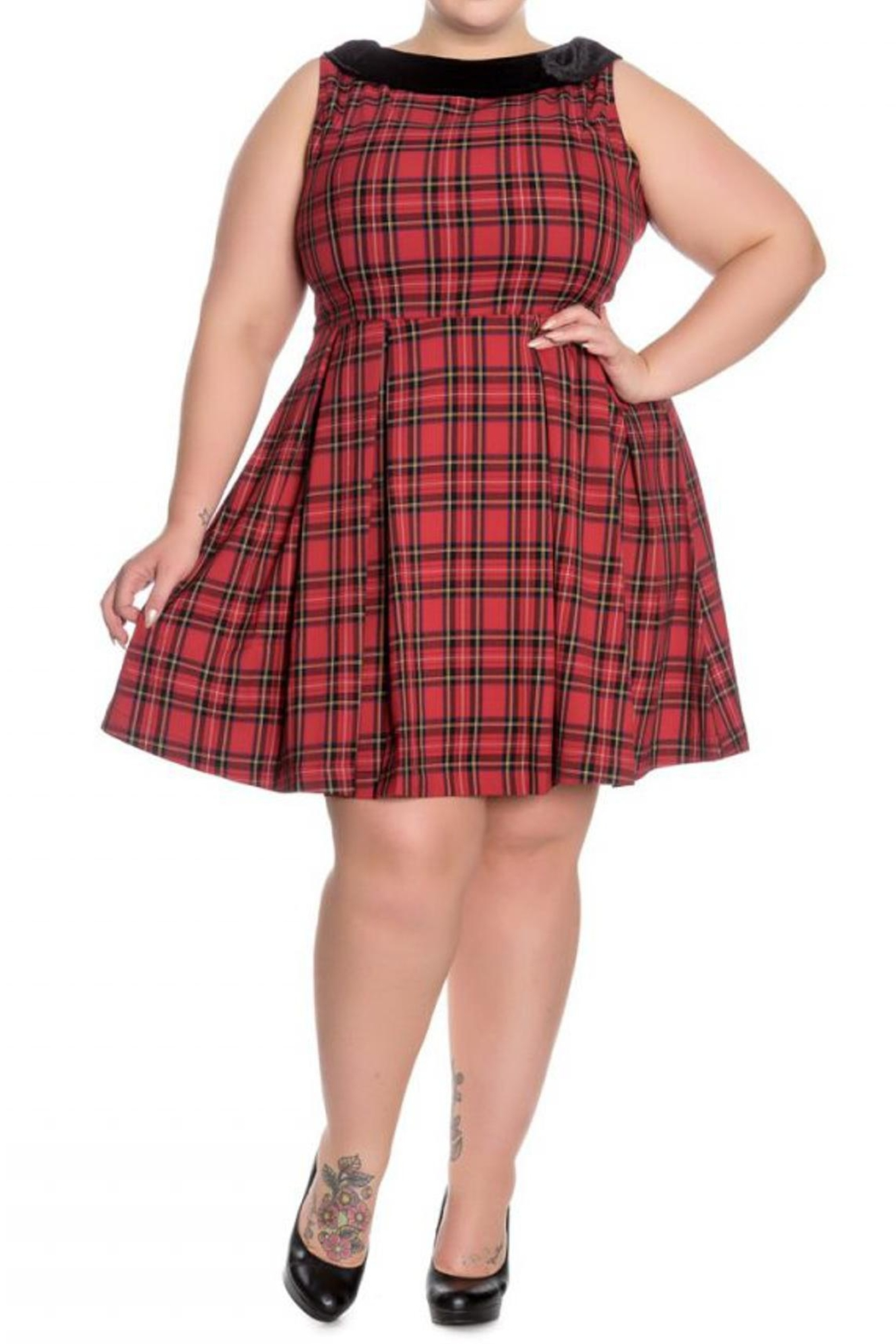 Hell Bunny Eleanor Tartan Dress - Main Image