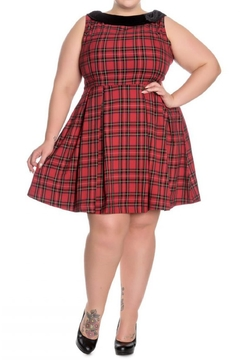 Hell Bunny Eleanor Tartan Dress - Alternate List Image