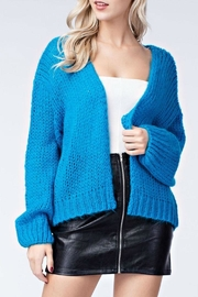 Honey Punch Electric Blue Cardigan - Product Mini Image