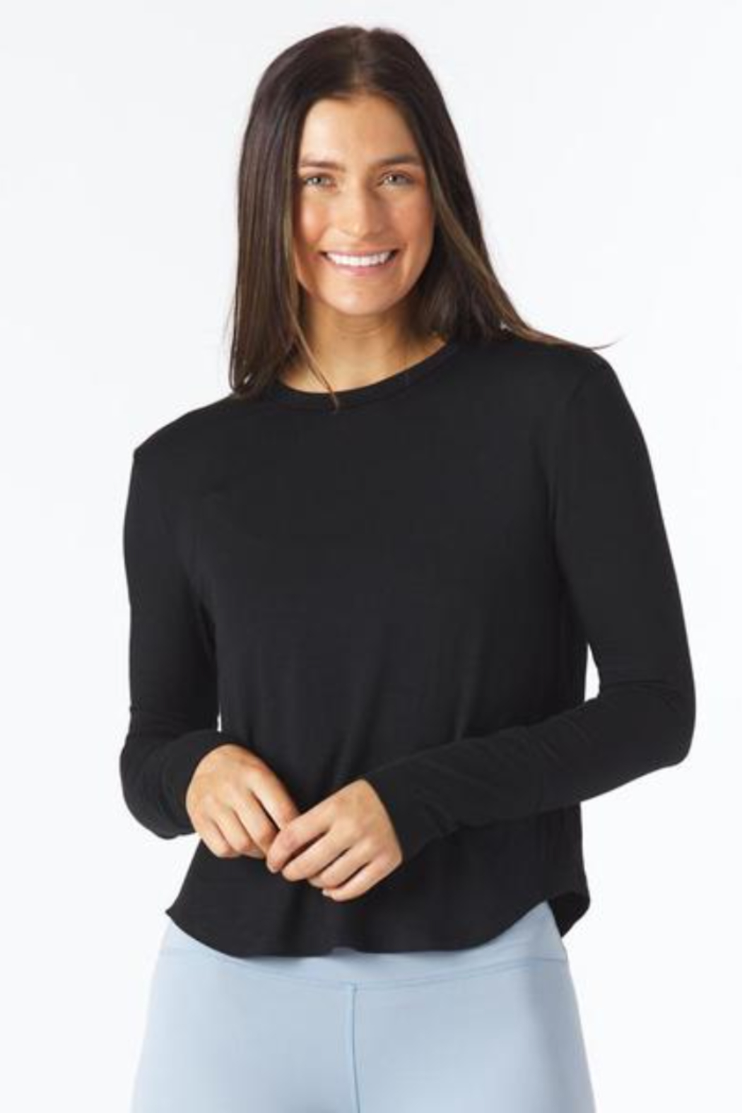 Glyder Electric Long Sleeve Top - Front Cropped Image