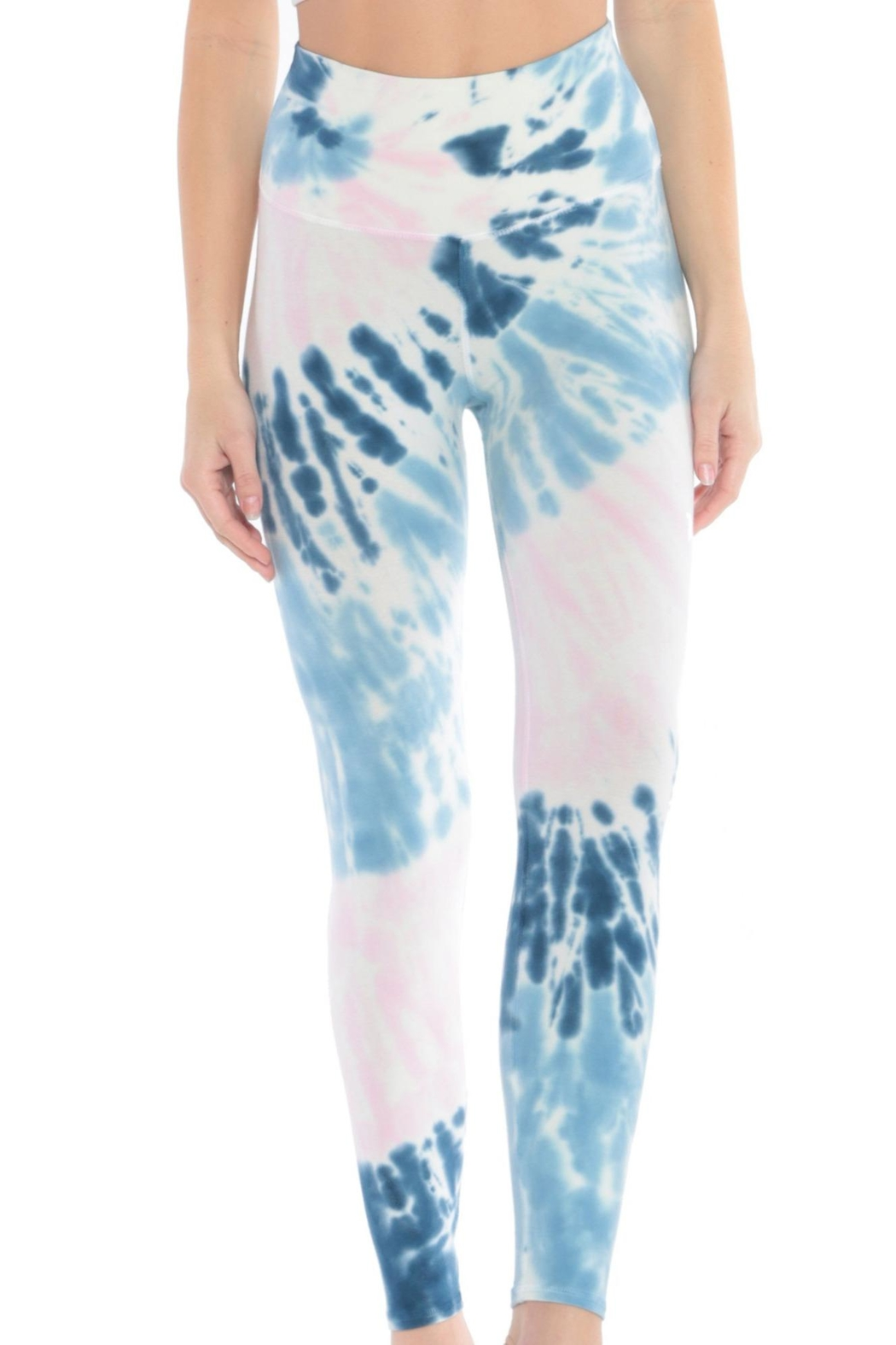 Electric & Rose Sunset Legging Pacific-Rose - Back Cropped Image