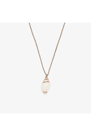 Puravida Electroplated Conch Necklace-Rose Gold - Product Mini Image