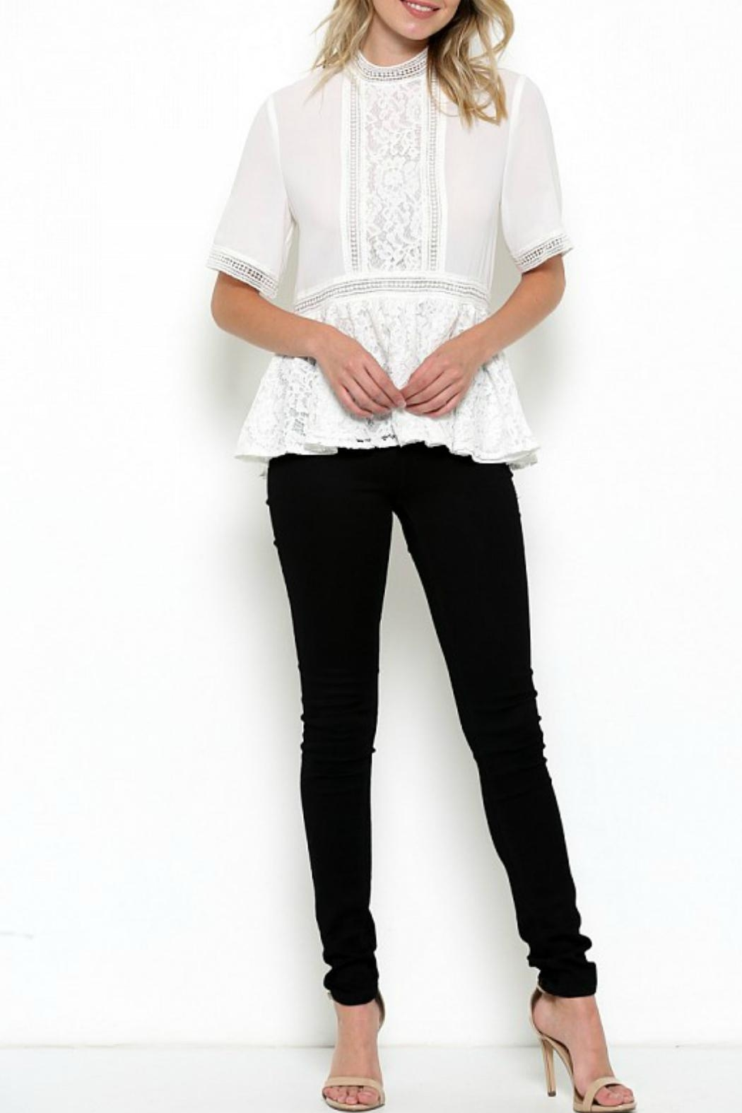 Elegance by Sarah Ruhs Chiffon Lace Blouse - Main Image
