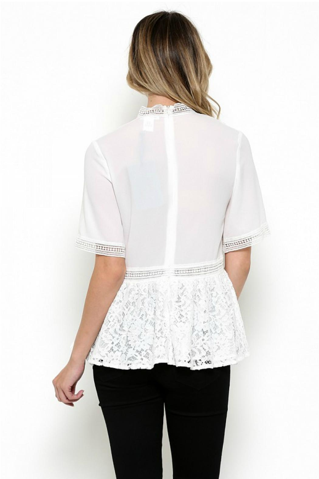 Elegance by Sarah Ruhs Chiffon Lace Blouse - Front Full Image